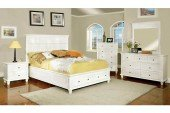 Willow Creek White Cottage California King Storage Bed