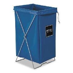 Hamper, Hamper Bag And Stand, 30 Gal, 15w X 16d X 30h, Blue