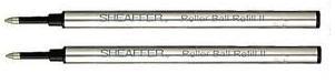 Sheaffer Recharge pour stylo roller fin Noir Lot de 2