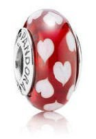 Pandora Red Sweethearts Glass Murano Bead Charm Gift for Mom, Daughter Mother (Pandora Red Beads compare prices)