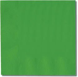 festive green luncheon napkins