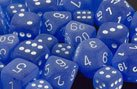 Chessex Dice: Polyhedral 7-Die Frosted Dice Set - Blue w/white