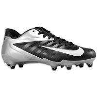 Nike Vapor Pro Low D Men\'s Detachable Football Cleats (10.5, Black/White-Meta...