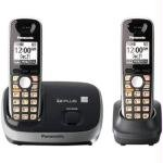 Panasonic KX-TG6512B DECT 6.0 PLUS Expandable Digital Cordless Phone System, Black, 2 Handsets