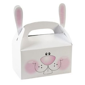 Paper Bunny Treat Boxes with Ears (6 Pack) - 1