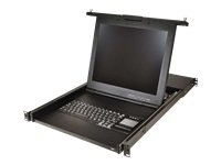 """Avocent Lcd Console And Kvm Over Ip Switch Integrated Tray - Kvm Console With Kvm Switch - 8 Ports - Usb - Rack-Mountable - Tft - 17"""" - 1280 X 1024 / 60 Hz - 250 Cd/M2 - 1000:1 - Vga - 1U"""