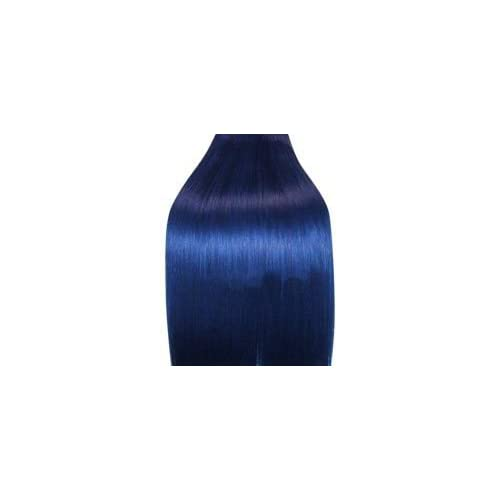 Supermodel   18 Inch Blue.Full Head Human Hair Weave For Sew In Or Glue In. High Quality
