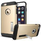 iPhone 6 Plus ケース, Spigen® [ スリム+保護力+個性 ] スリム アーマー Apple iPhone (5.5) アイフォン 6 プラス カバー (国内正規品) (シャンパン・ゴールド SGP10907)