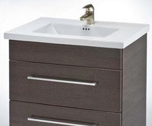 WALL-HUNG DAYTONA 24 TWO DRAWERS VANITY FOR CERAMIC SINK TOP