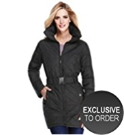 M&S Collection Concealed Hood Belted Coat with Stormwear™