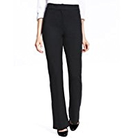 M&S Collection Ponte Slim Bootleg Trousers with Secret Support™