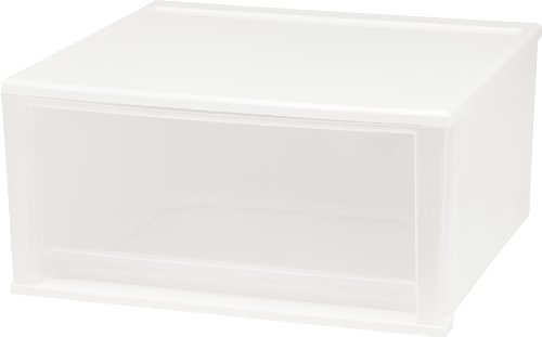 IRIS 51 Quart Stacking Drawer, 2 Pack, White (Modular Stacking compare prices)