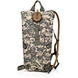 Red Jacket US Army 3L 3 Liter (100 ounce) Hydration Pack Bladder Water Bag Pouch Backpack Hiking Climbing Survival Outdoor (ACU Camo) (Color: ACU Camo)