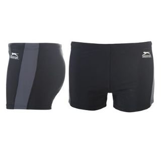 Slazenger Swimming Shorts Mens Black/Charcoal M (32)