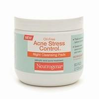 Neutrogena Oil-Free Acne Stress Control Night Cleaning Pads, 60 ea
