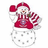 Philadelphia Phillies 16&quot; Fiber Optic Snowman - MLB Baseball
