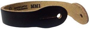 Levys MM1 - Black Genuine Leather Slotted Guitar Hanger