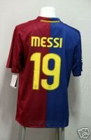 08-09 BARCELONA HOME JERSEY + FREE SHORT MESSI (SIZE M)
