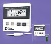 8189407 PT# 1464826 Thermometer Lab Traceable Fridge/Frzr Dgt LCD Dual Wlmnt Ea Made by Fisher Scientific Co.