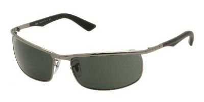 Ray Ban Sunglasses – RB3459 004 Metal – Acetate Silver Green Grey