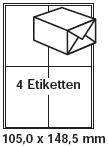 pripa Etikettenformat 105 x 148, 50 B...