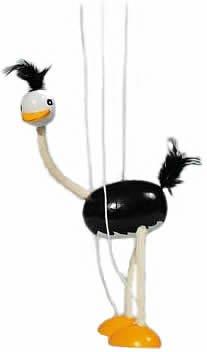 Goki Marionette Ostrich Toy