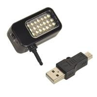 Bescor Led-21 18-Watt Self Powered Smart Phone Led Light, Mounts On 3.5Mm Headphone Jack