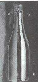 Full Size Champagne Bottle Candy Mold Part A