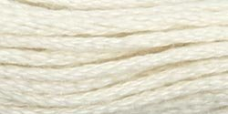 Coats & Clark Six Strand Embroidery Floss 8.75 Yards Cream C11-5387; 24 Items/Order