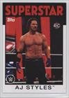 AJ Styles (Trading Card) 2016 Topps Heritage WWE #1 (Wwe Aj Cards compare prices)