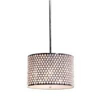 Artcraft Lighting AC345CH Concentrix 4-Lite Small Circular Chandelier, Chrome