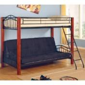 Wooden Futon Bunk Bed 4703 front