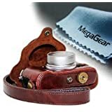 "MegaGear ""Ever Ready"" Protective Leather Camera Case, Bag for Fujifilm X30 12 MP Digital Camera (Dark Brown)"