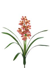 Pack of 6 Artificial Mauve Mini Cymbidium Orchid Silk Flower Sprays 22″