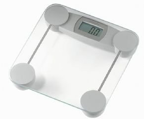 hanson hx500 glass scale silver lcd electronic bathroom scales health