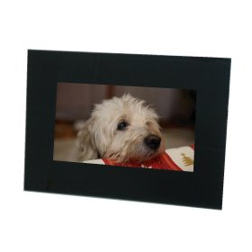 TDS - 7 Inch Digital Photo Frame Black compatible with both memory cards and USB pen drive add pictures for a Great Gift
