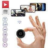 Wireless Mini Spy Camera 1080p HD by YoVive with Wi-Fi Ready Connection, Night Vision and Motion Detection, Hidden CCTV Camera - for Nanny Cam, Dash Cam, Home Security System - Android/iPhone/iPad/PC