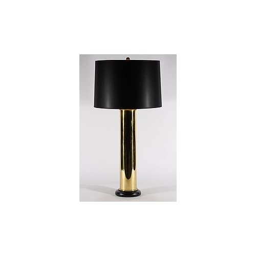 Vintage Solid Brass Artillery Shell Table Lamp: Home