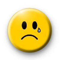 """SMILEY - UNHAPPY CRYING SMILE CRY FACE - 1.25"""" Magnet ~ Emoticon"""