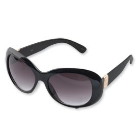 Jacqueline Jackie Kennedy Black & Gold Greek Key Sunglasses Kamrose and Cross Certificate