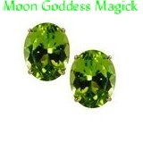 3.5ct.~9x7mm~MaNcHuRiAn PERIDOT EaRrInGs~.925 SS