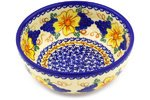 Polmedia Polish Pottery 7-inch Stoneware Bowl H8012F Hand Painted from Vena in Boleslawiec Poland. Shape S051E(073) Pattern P4890A(U071) Unikat painted by a distant hand – mimbres pottery of the american southwest