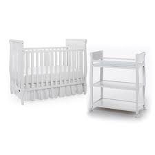 Graco Sarah Classic Two Piece Convertible Crib Set Crib and Changing Table WHITE