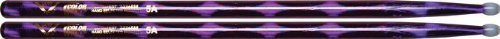 Vater Percussion Color Wrap 5A Drumsticks, Purple Optic, Nylon Tip