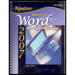 Advanced Microsoft Word 2007: Desktop Publishing, Windows...