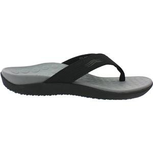 Vionic Unisex Wave Toe Post Sandal, Black US W7/ M6