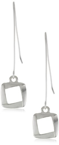Kenneth Cole New York Silver-Tone Square Linear Earrings