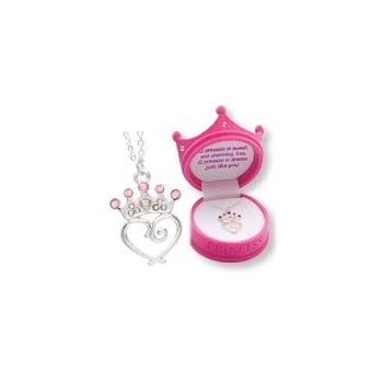 Set A Shopping Price Drop Alert For Petite Princess Crown Necklace in Figural Gift Box