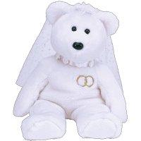 MRS the Wedding Bride White Sparkly Teddy Bear