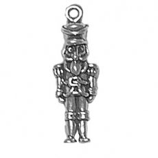 """Sterling Silver 18"""" 1.0Mm Wide Box Chain Lightweight Boys Necklace With 3D Wooden Military Toy Soldier Pendant"""